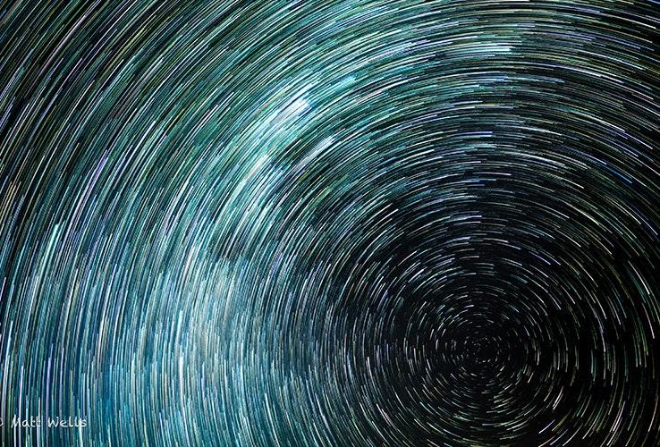 Long exposure photo of stars