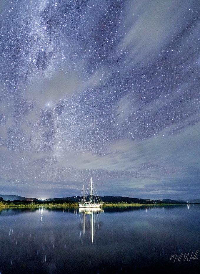 Star gazing over the huon
