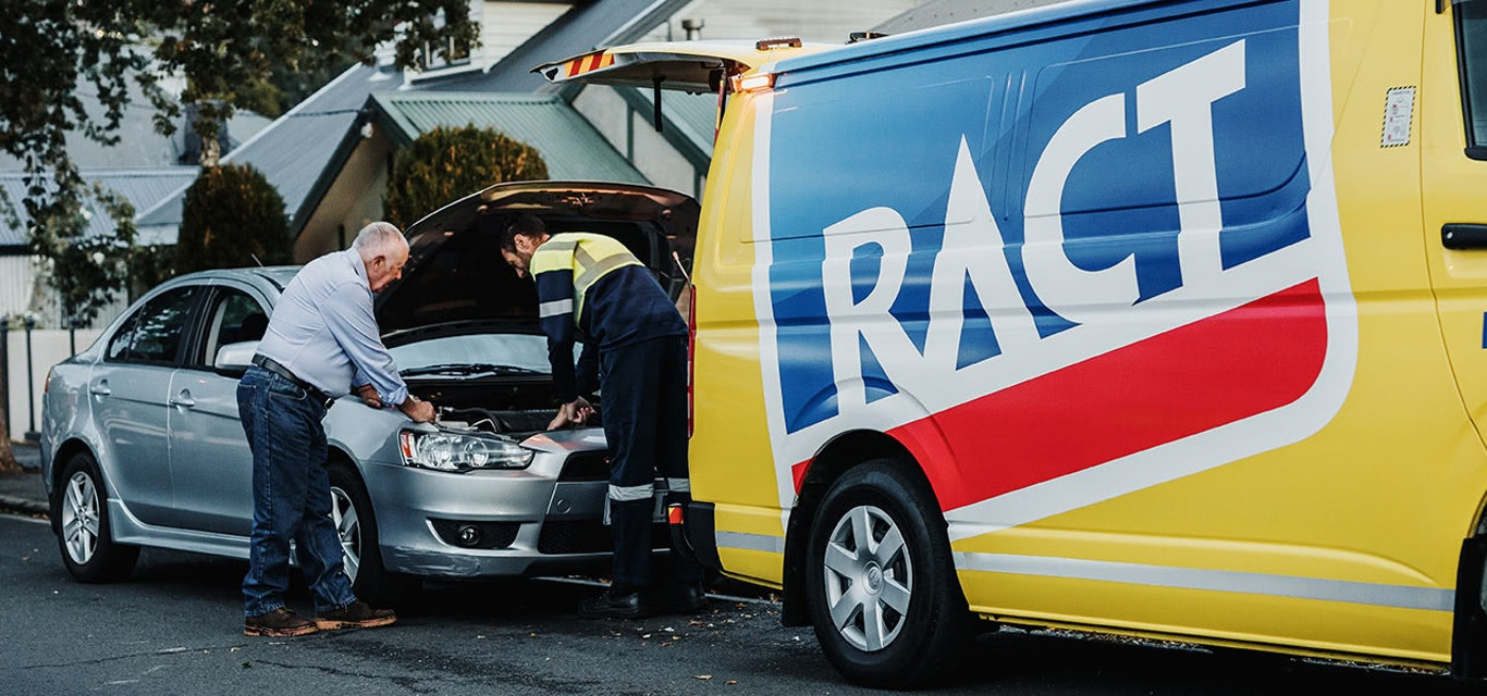 Roadsider assistance with broken car.