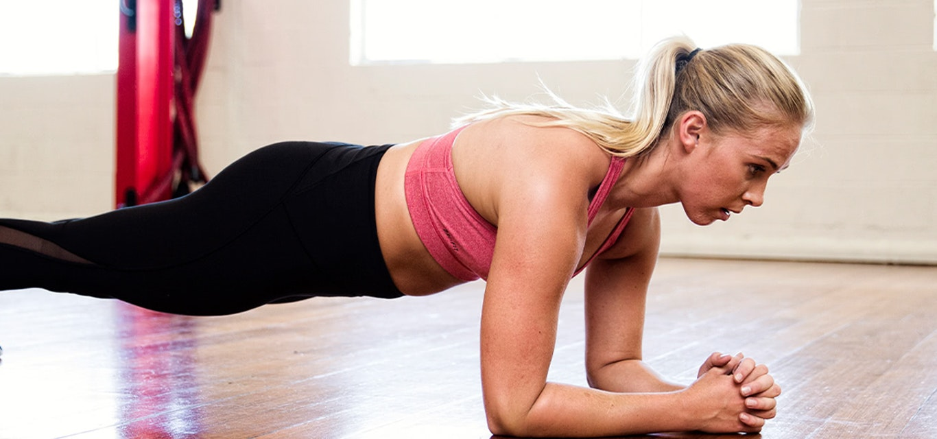 Woman exercising in active wear