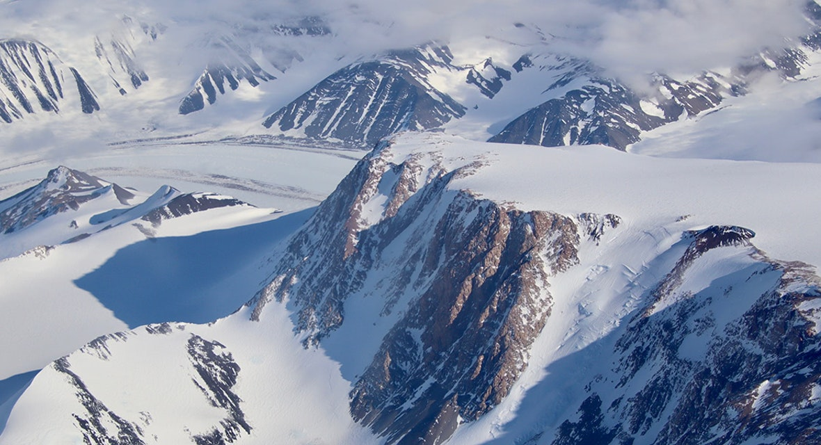 Snow-capped mountains of Antarctica