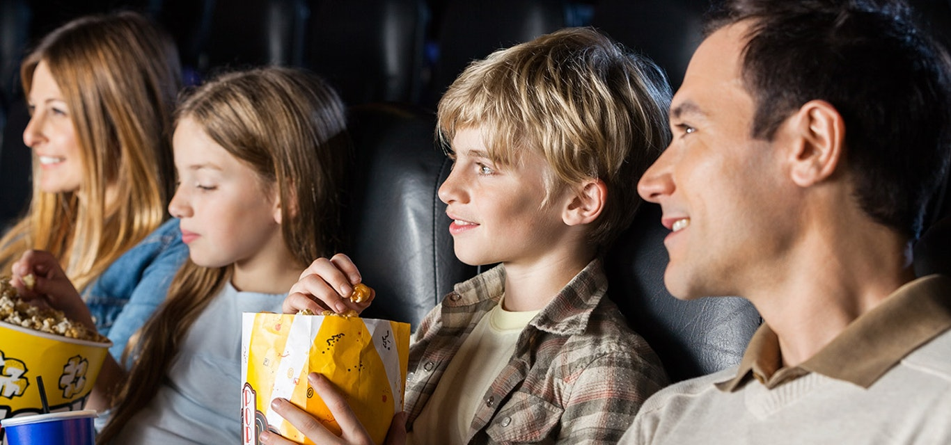 Family at the movies.