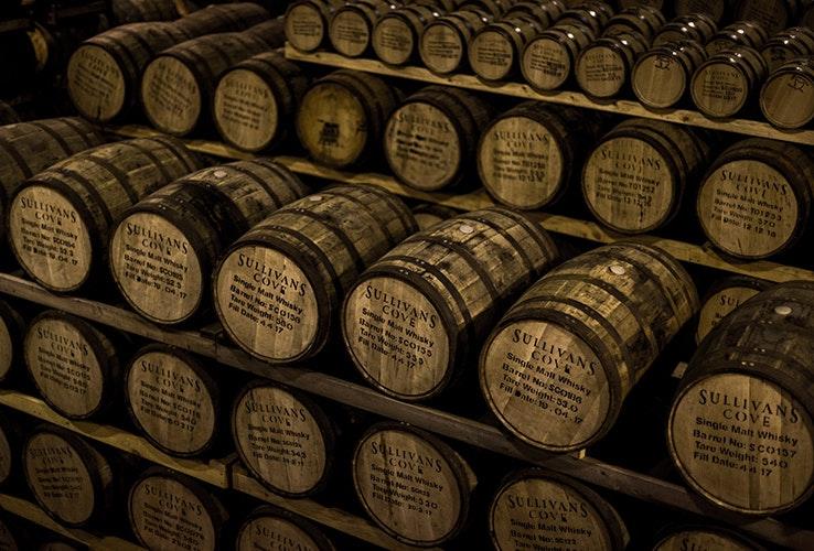 Whiskey barrels.