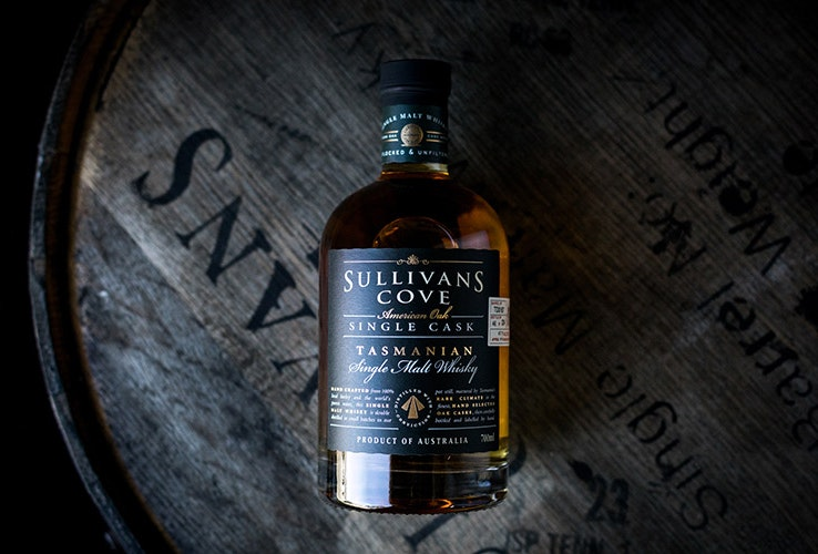 Sulivan's Cove whiskey bottle.