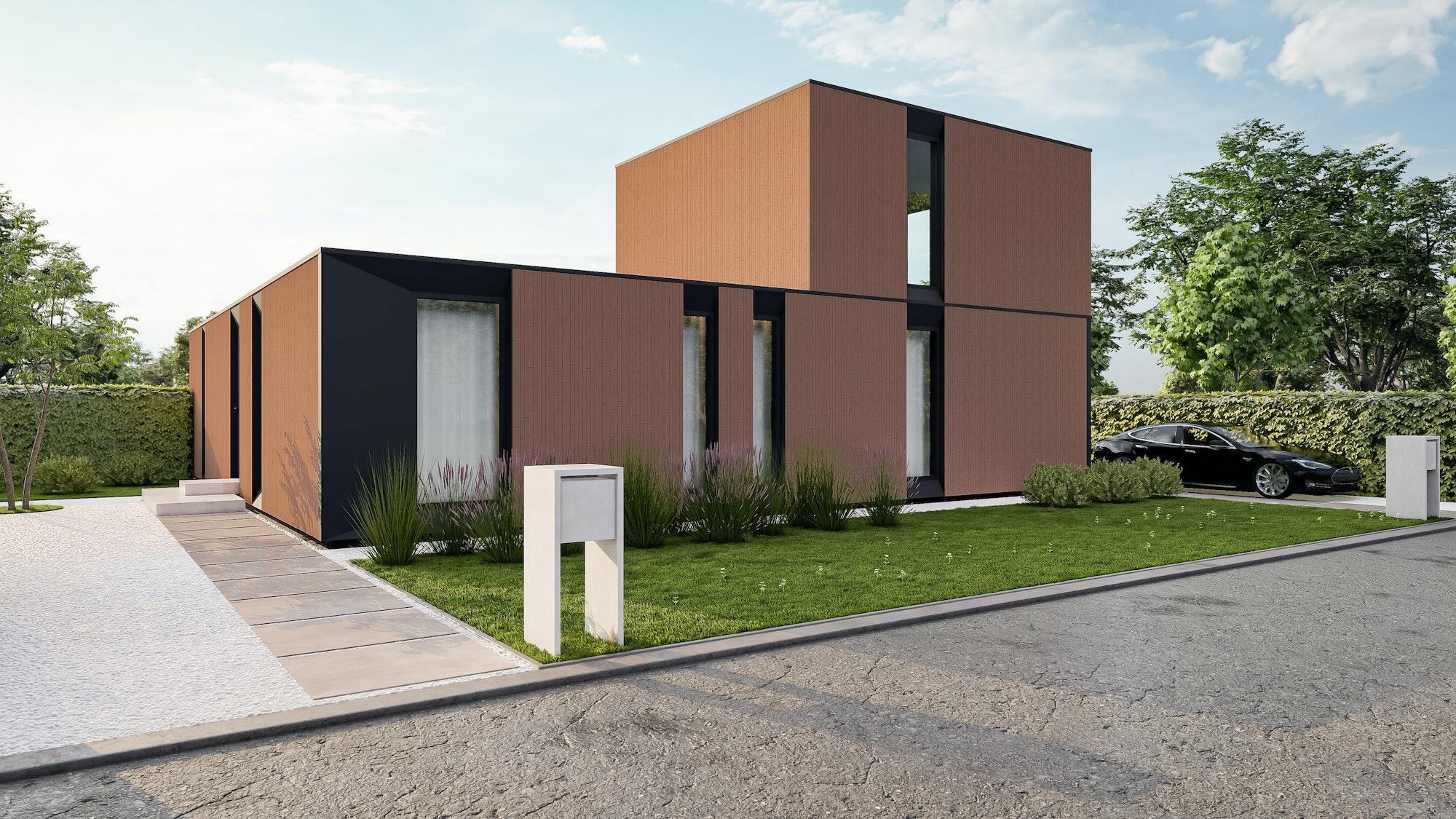 Skilpod sleutel-op-de-deur houtskeletbouw woningen in Balen