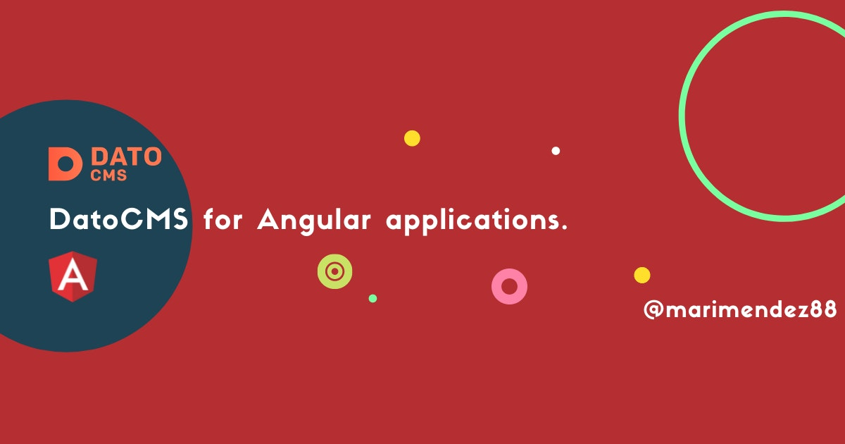 Cover Image for DatoCMS for Angular Applications