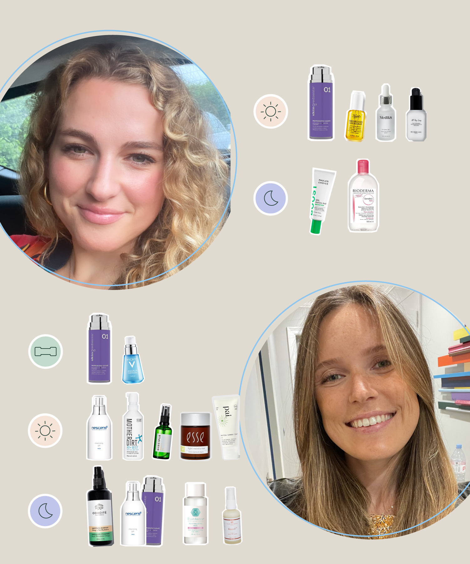 Megan and Ksenia share their current skincare routine
