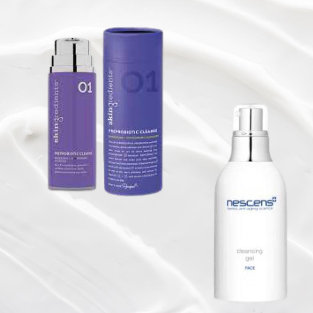 Nescens Cleansing Gel / Skingredients PreProbiotic Cleanse