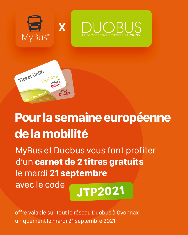 2 tickets MyBus JTP 2021
