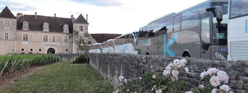 autocars de tourisme au Clos Vougeot