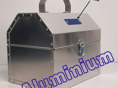 Boîte à lunch en aluminium