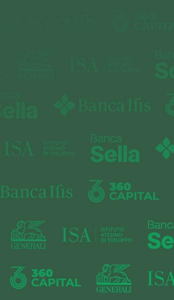 Sfondo con i loghi dei partner di Banca AideXa