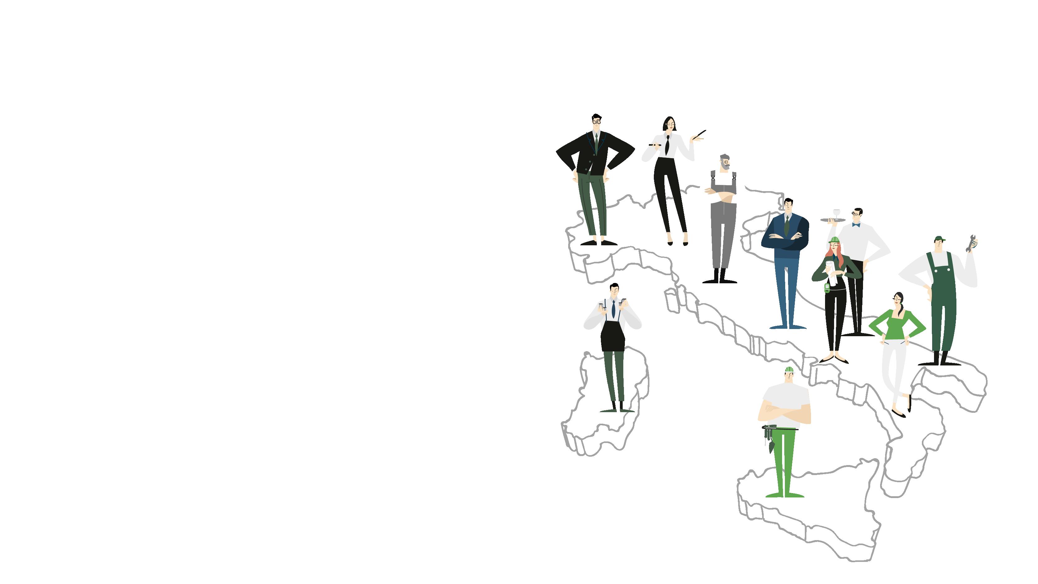 Gli imprenditori delle PMI posizionati sulla mappa d'Italia.