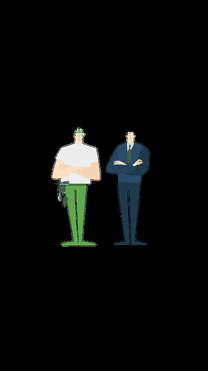 Un business banker e un imprenditore.