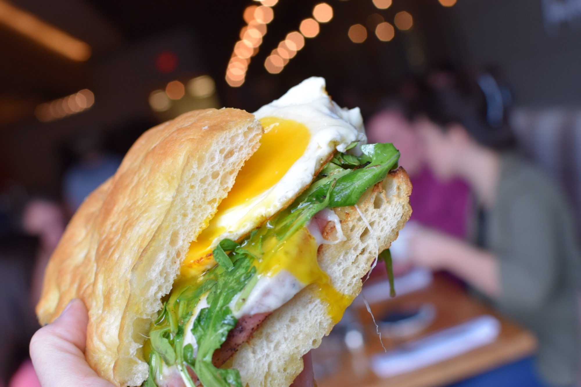 Fried Mortadella and Egg Sandwich