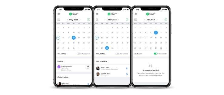 kiwiHR App view