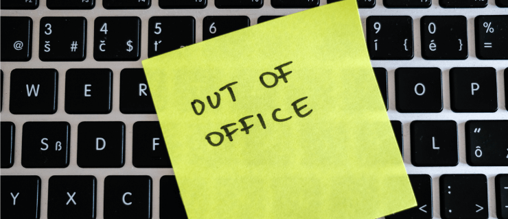 out of office note