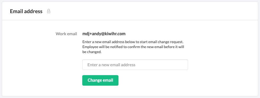 Screensht der kiwiHR App