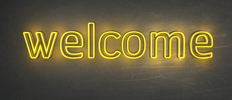 Panneau lumineux welcome pour signifier onboarding