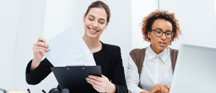 Employees on performance review