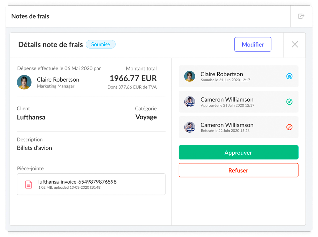 Module note de frais kiwiHR