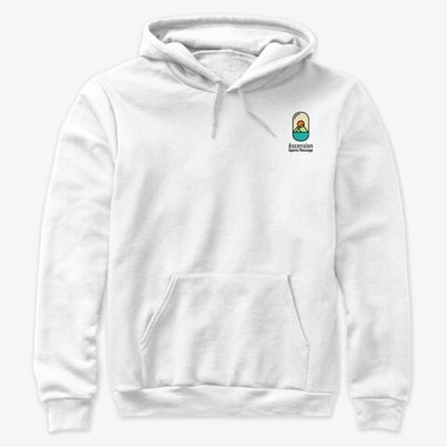 Black hoodie with full colour logo back and front