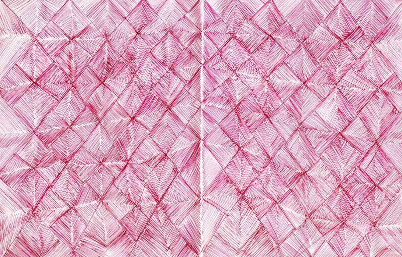 Sketch of redlines creating a diamond pattern