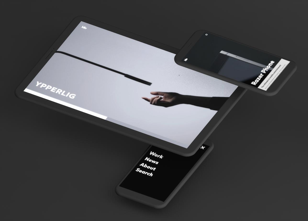 Iphone and Ipad screens showing kilo website