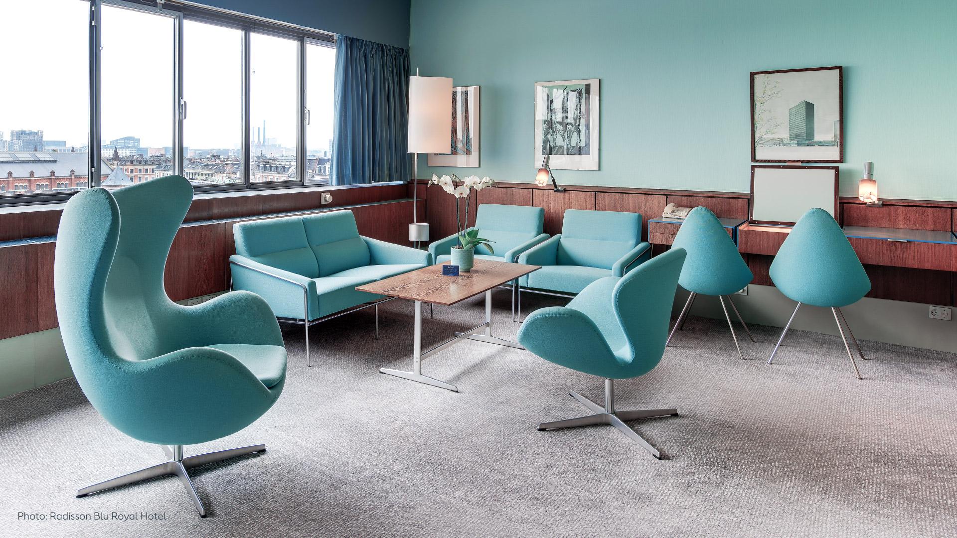 Radisson SAS Royal Hotel Room 606 by Arne Jacobsen for inspiration