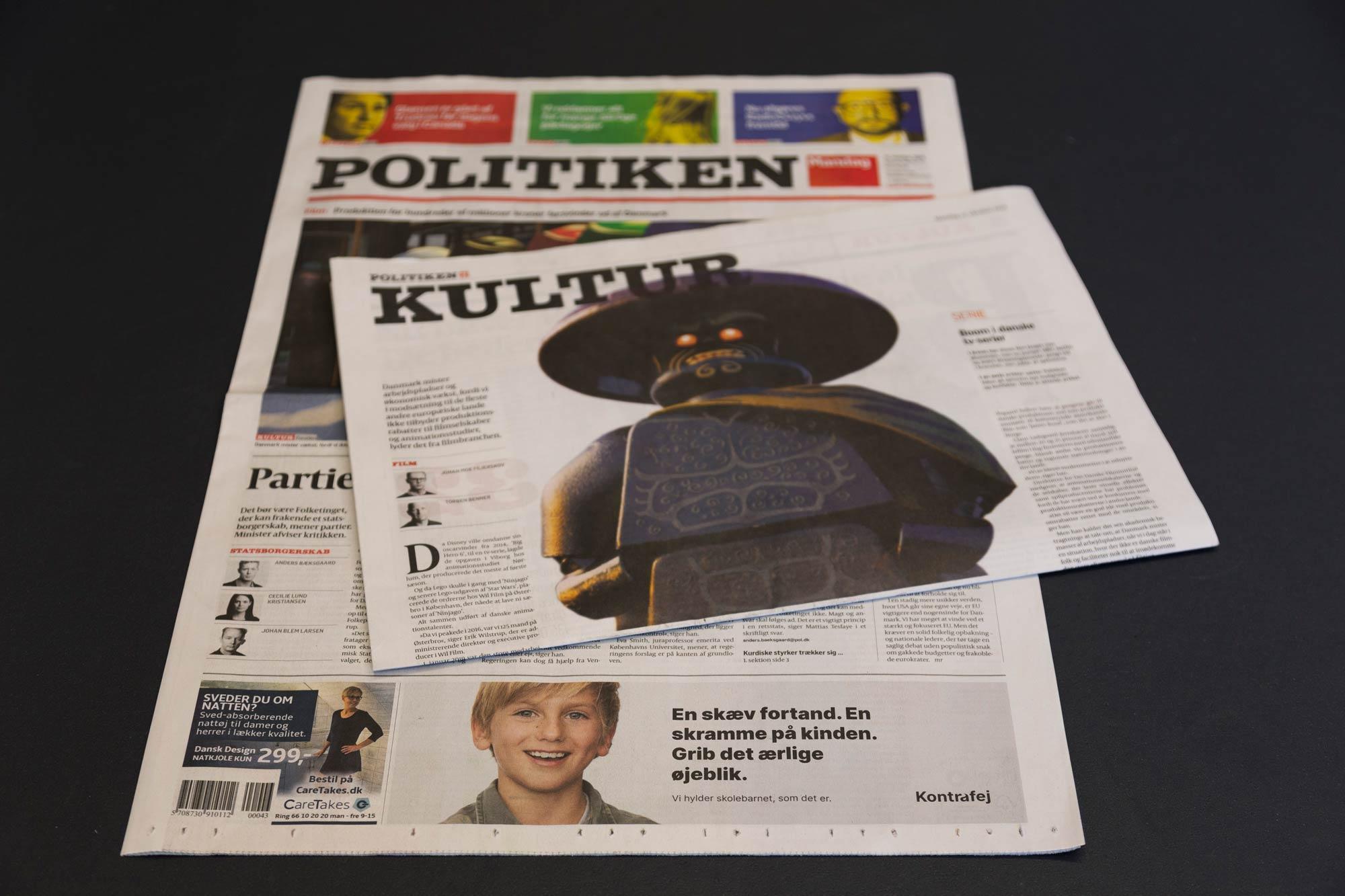 Cover of politiken newspaper