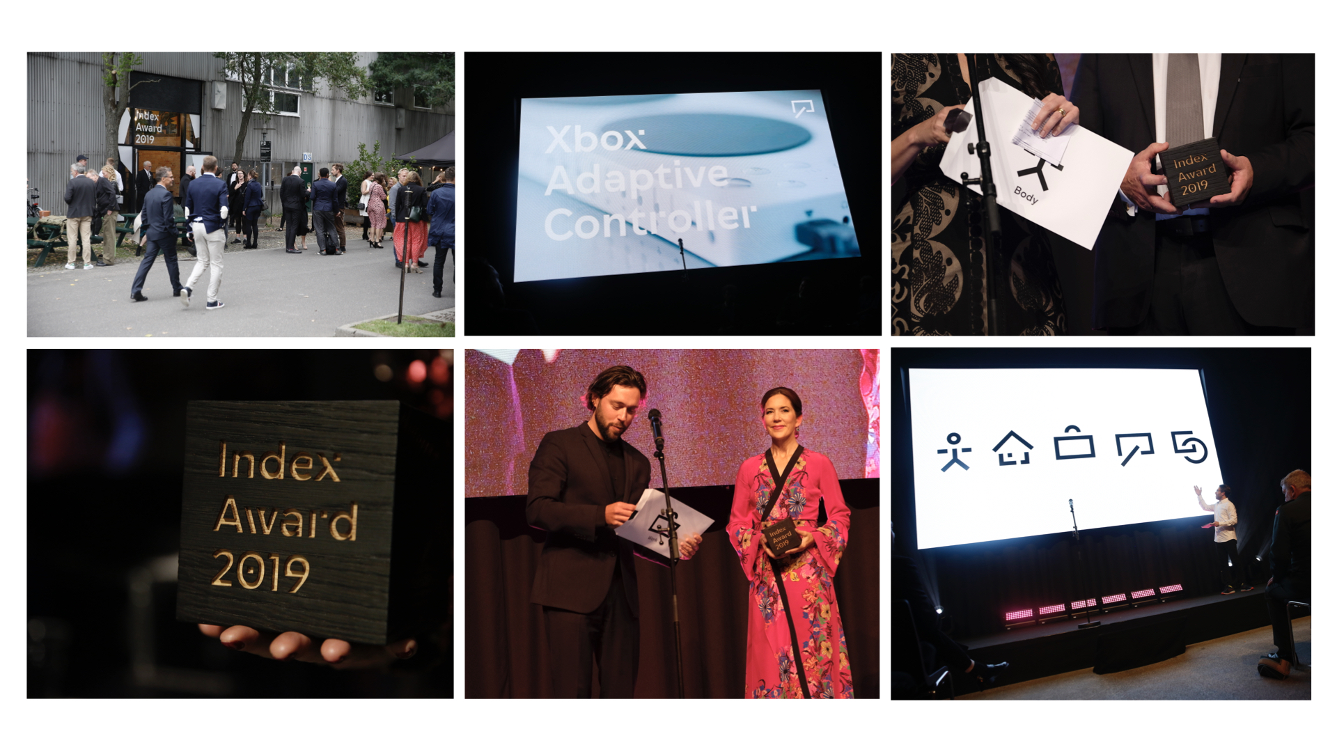 a collage of photos from the Index award