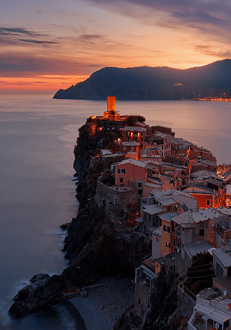 Italy in the sunset