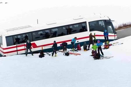 Vi shuttler deg under High Camp Turtagrø.