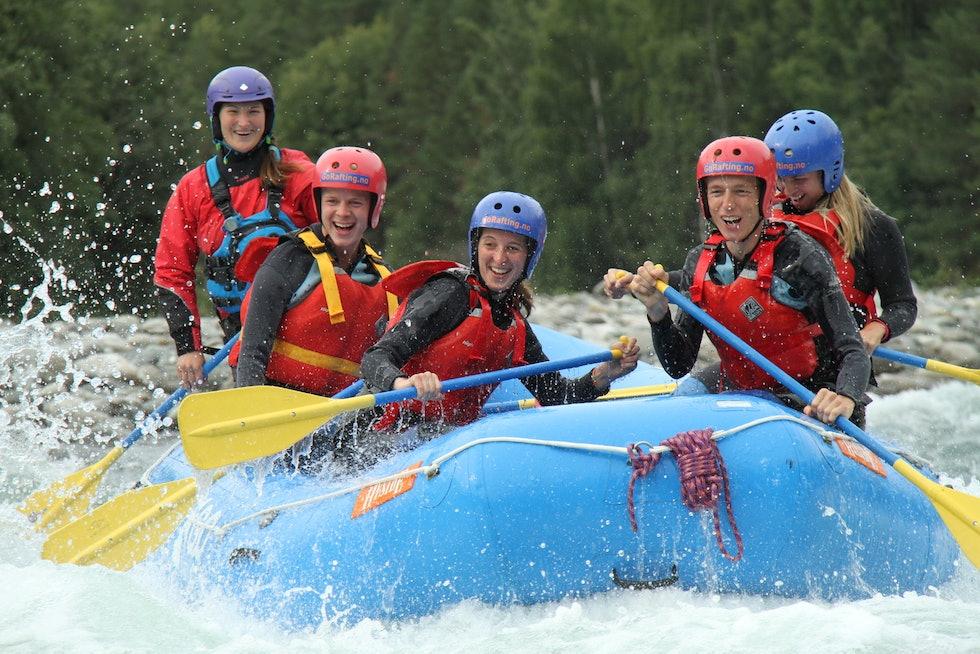 Rafting i Sjoa på Fjellfilm