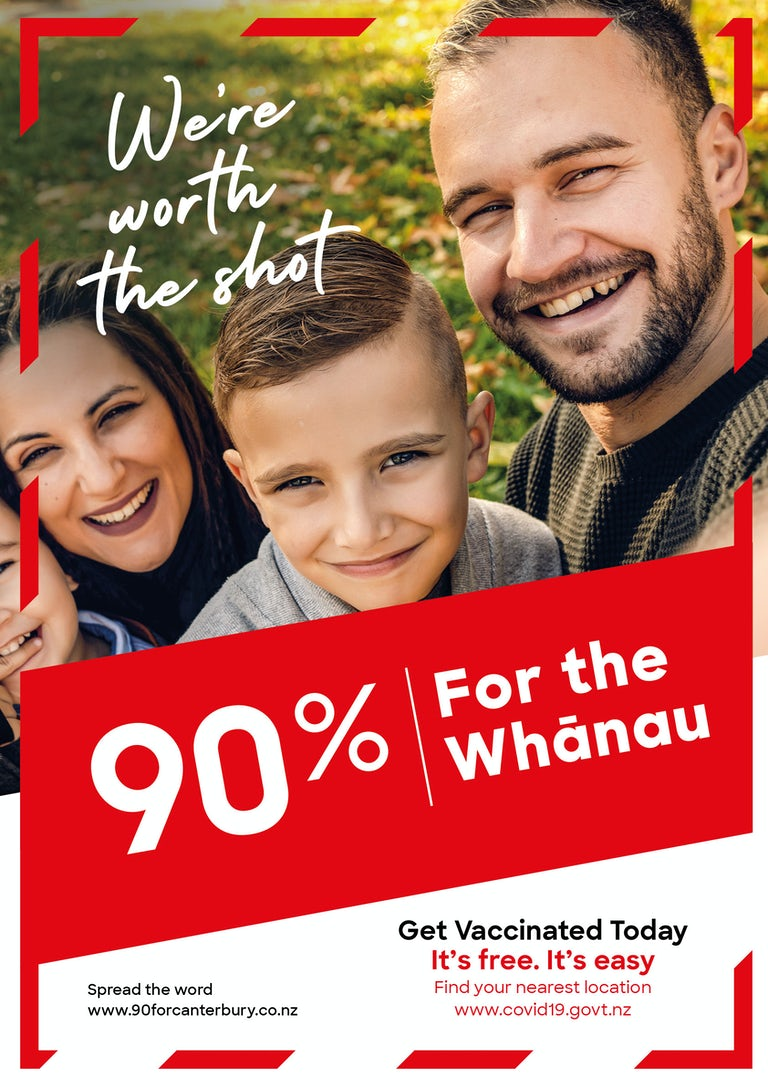 We're worth the shot. 90% for the Whānau