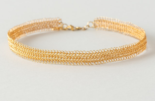 Thin and elegant choker from the Silver Crochet collection. Hand-crocheted in pure silver wire.
