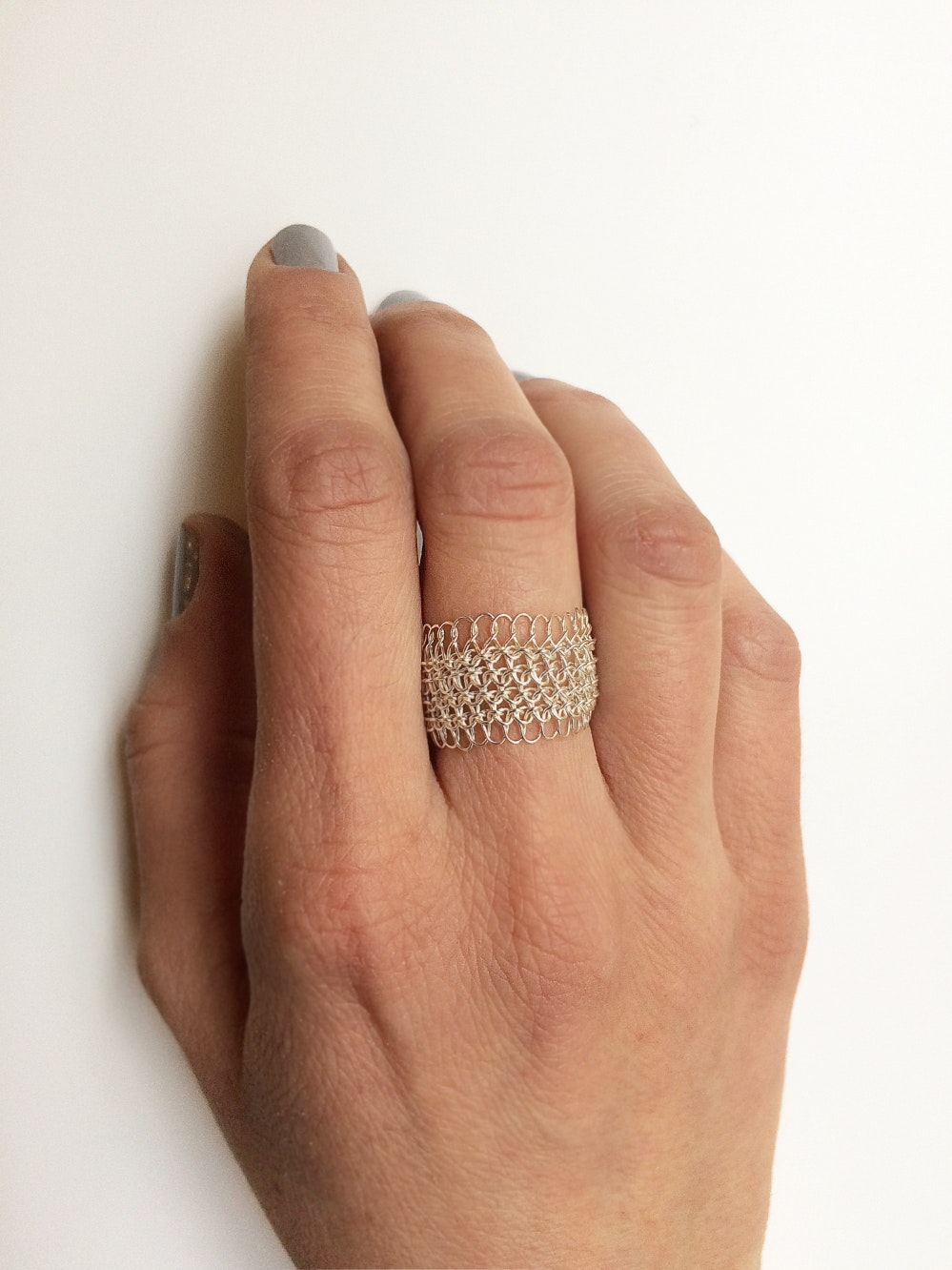 Silver-crochet-rings - Margherita de Martino Norante