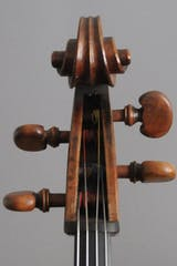 Old english cello scroll