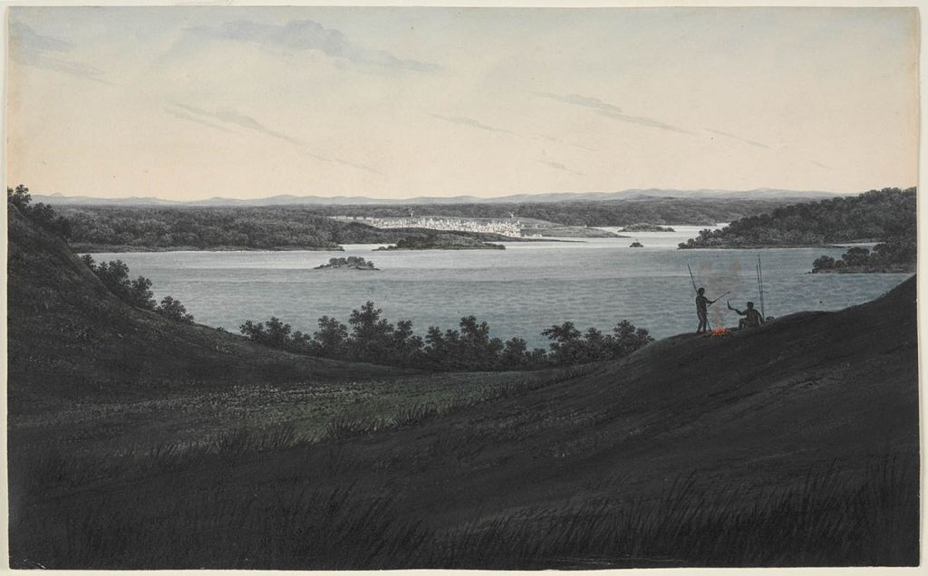 A view of Sydney NSW entering the heads. (Mitchell Library, State Library of NSW)