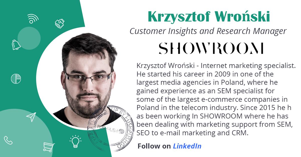 Krystof Wroński bio. Showroom