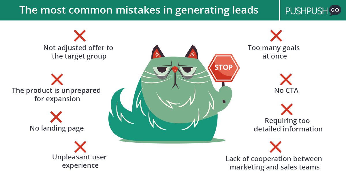 the most common mistakes in leads generation