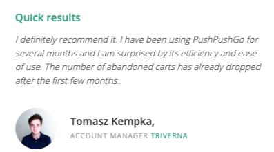 PushPushGo - customer review