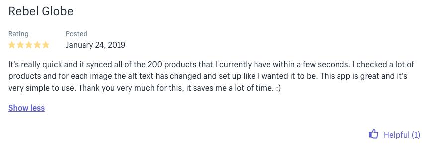 seo image optimizer customer review shopify