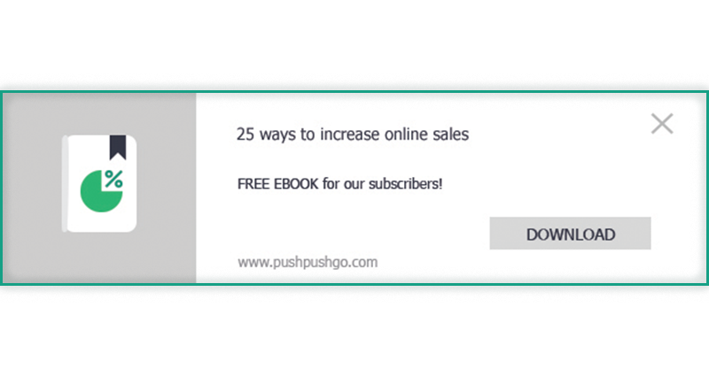 web push notifications for B2B lead generation