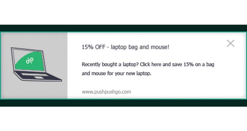 web push - cross-selling