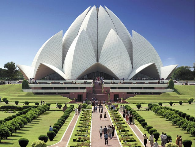 "The Baha'i House of Worship near New Delhi, known as the Lotus Temple, was named as one of 100 canonical works of the 20th century in the recently published ""World Architecture 1900-2000: A Critical Mosaic, Volume Eight, South Asia."""