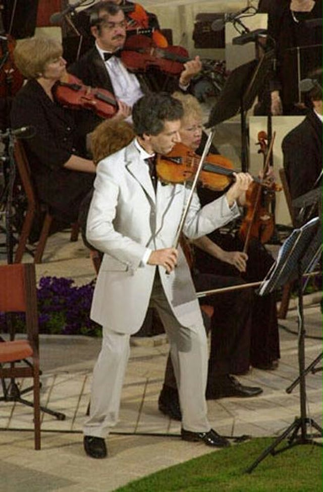 """Violinist Bijan Khadem-Missagh was one of the soloists for the """"Terraces of Light"""" oratorio."""