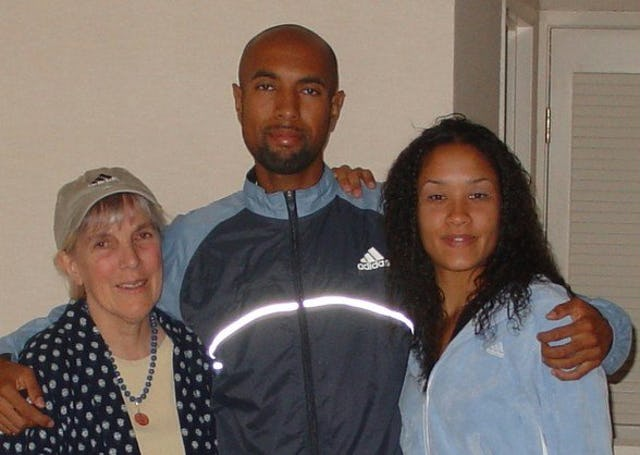 David Krummenacker with his mother, Marylou, and girlfriend, Karima White.