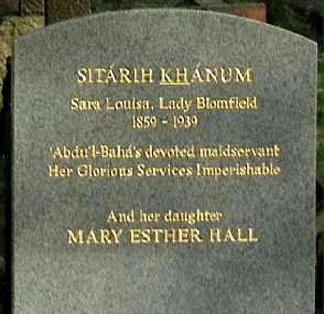 New headstone for Lady Blomfield and her daughter.