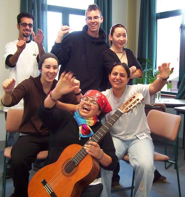 Animated...Anisa Beckman (front), Terra Lew, Nava Derakhshani (second row), Abdullah Norozi, Ezra Hopkins, Tessa Lew (back row).